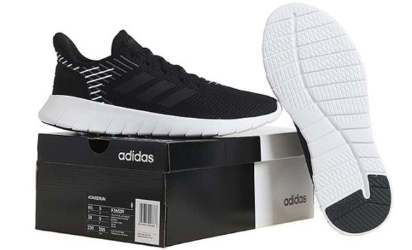 Details about Adidas Women ASWEERUN Training Shoes Running Black Athletic GYM Sneakers F36339