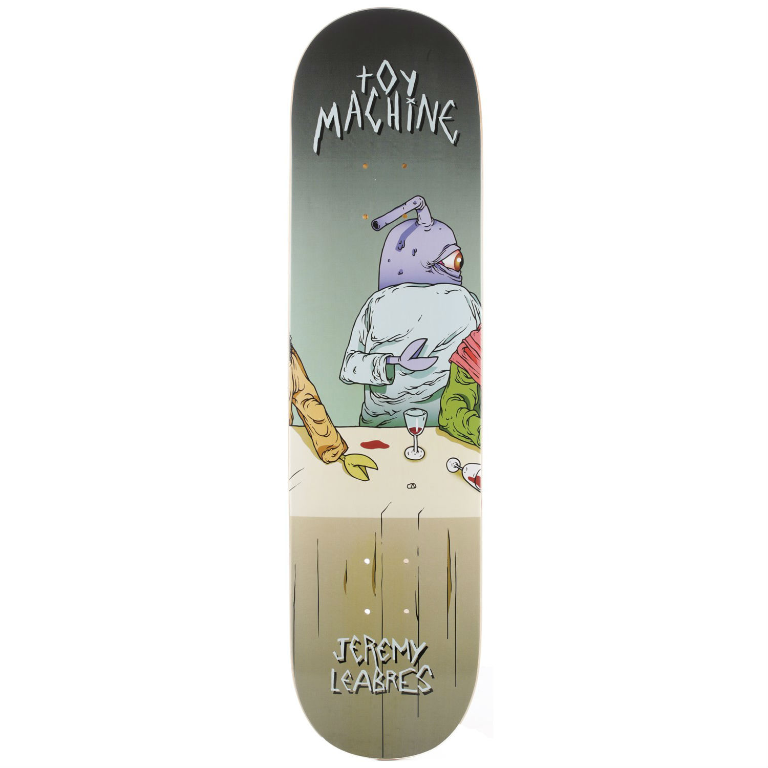 Toy Machine Skateboard Deck Leabres Last Supper 8.125 Pro 1 of 8 FREE POST & FREE GRIP