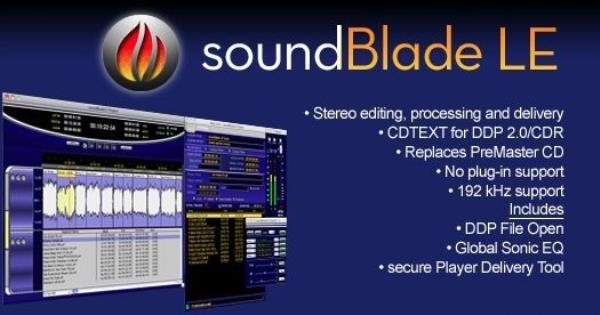 Details about New Sonic Studio SoundBlade LE 2-Channel Mastering  Workstation Mac Software