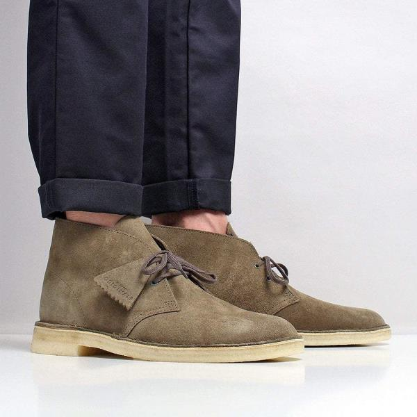 a6496aaefea Details about Clarks Originals Men's New Suede Crepe Sole Desert Boots  Olive Green