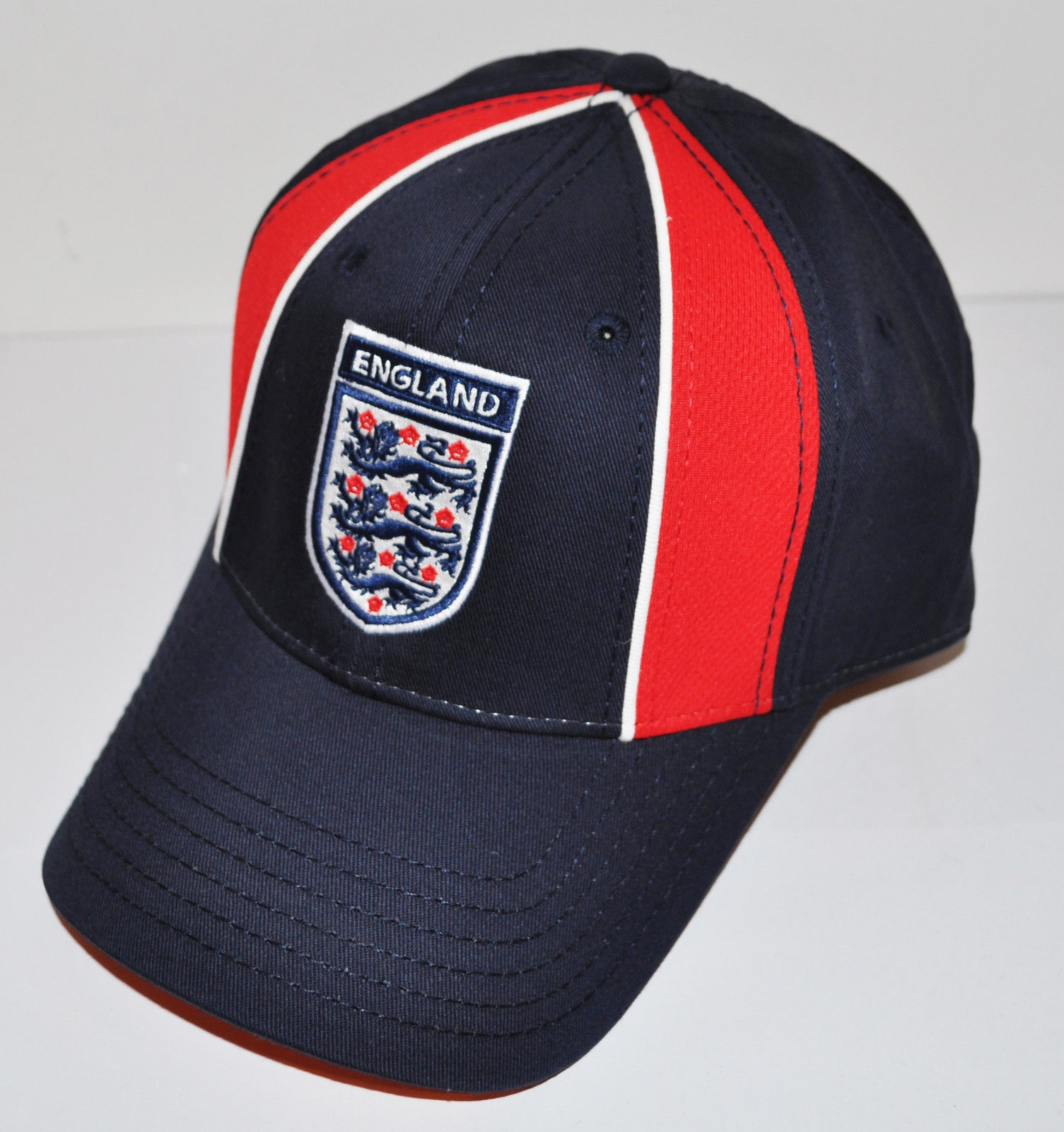 d8eb71aac125f England Archway Navy Blue & Red Adjustable Baseball Cap (AC1913) | eBay
