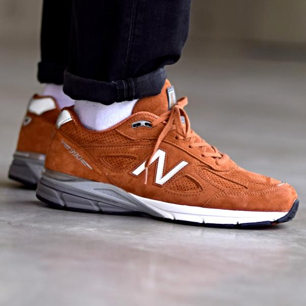 new product 29ca9 bd675 Details about New Balance M990 JP4 Sneakers Orange Size 7 8 9 10 11 Mens  Shoes New