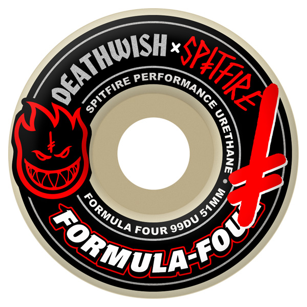Spitfire Skateboard Wheels deathwish Formula 4 f4 four 51mm FREE POST