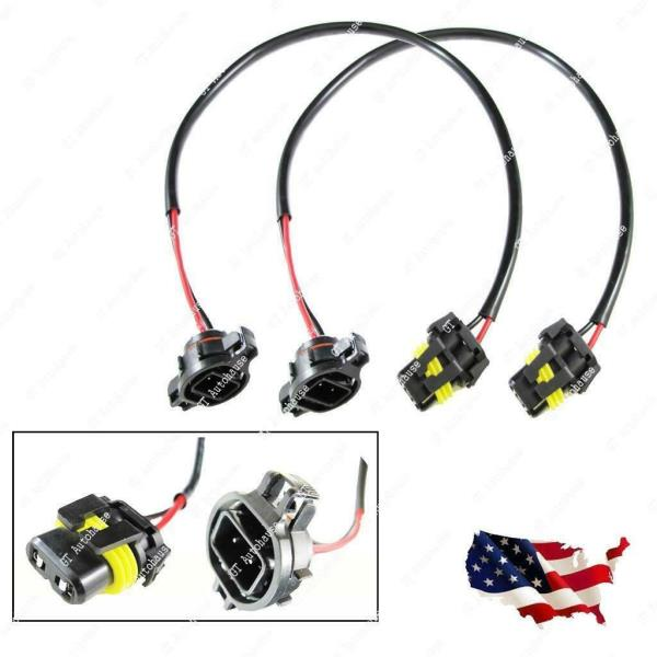 Details about 5202 H16 to 9006 HB4 Wire Harness for HID Ballast Socket on