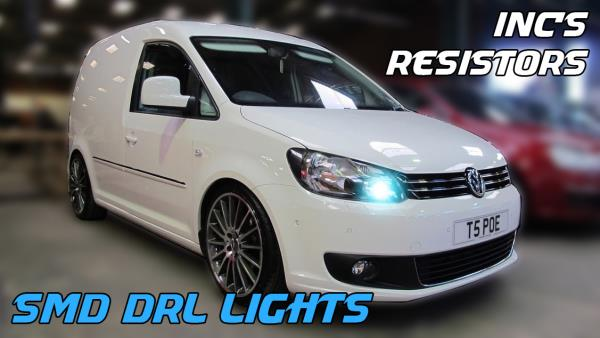 VW CADDY LED DRL P21W CANBUS ERROR FREE XENON WHITE DAY TIME RUNNING ...