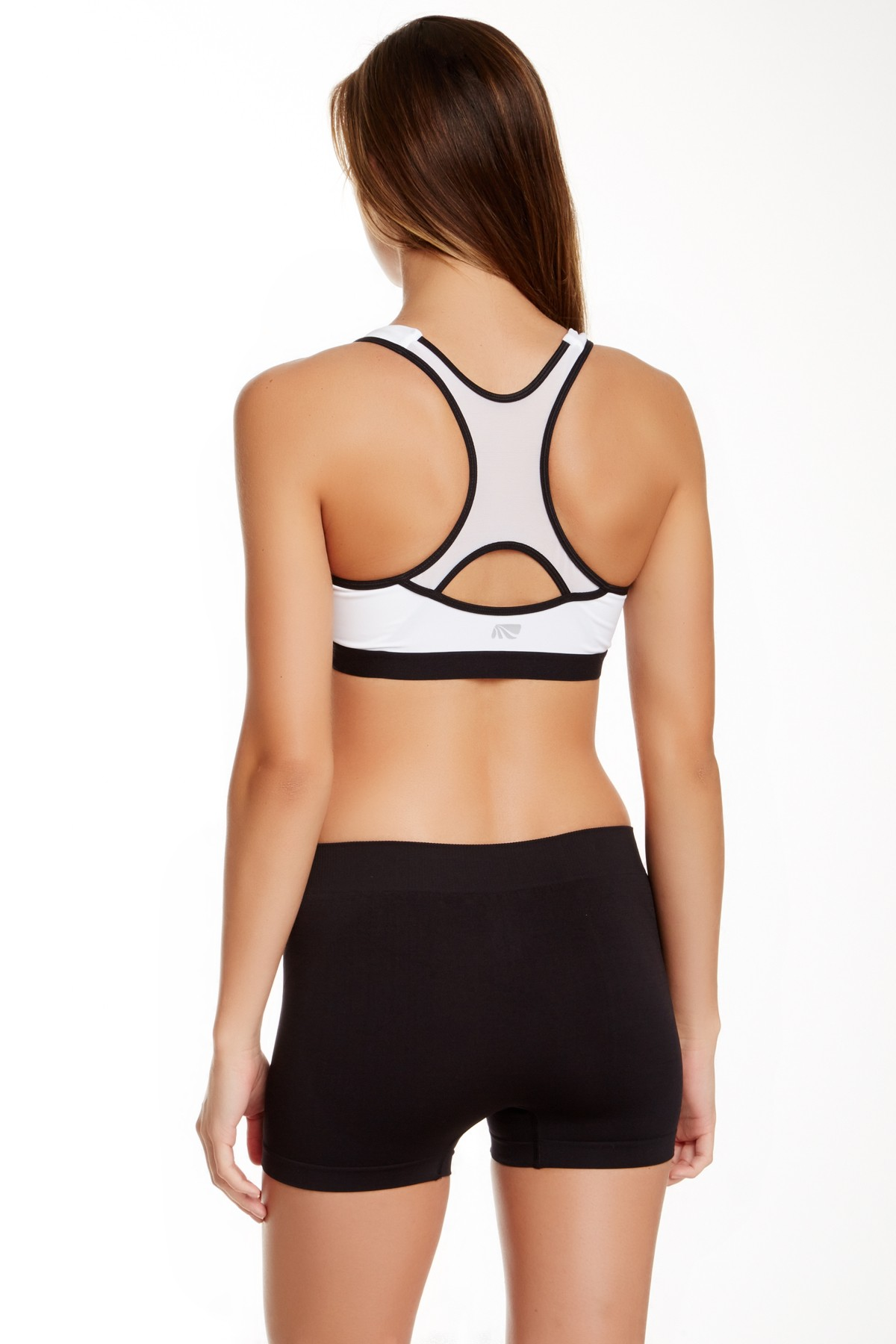 615d1fb6a0 Marika M50101 High Impact Microfiber Sports Bra SZ S White Black