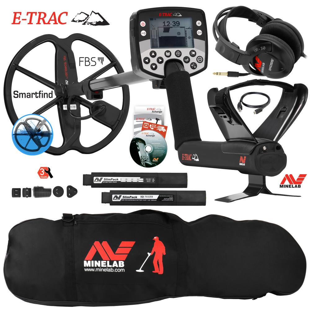 Details about Minelab E-Trac Metal Detector w/ 11