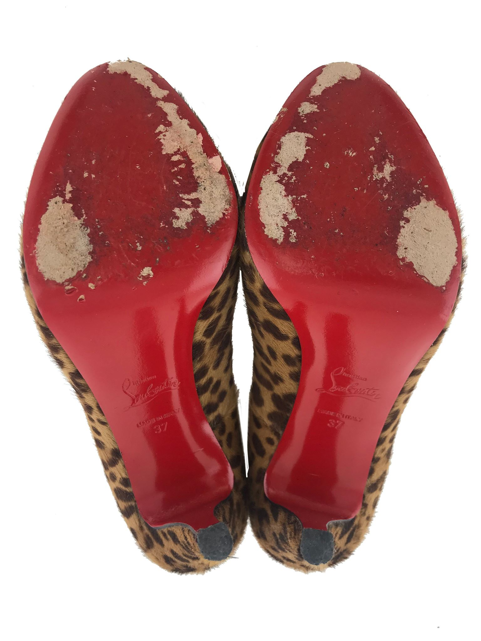 825f3995befc Christian Louboutin Pony Hair Peep Toe Pumps Size 7. Liquid error  Index  was out of range. Must be non-negative and less than the size of the  collection.