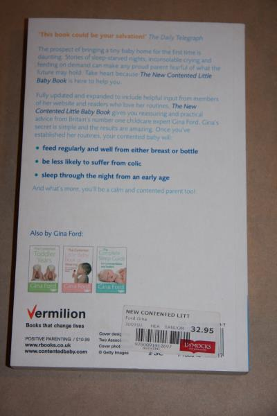 lot of 2 x books by gina ford contented little baby book complete