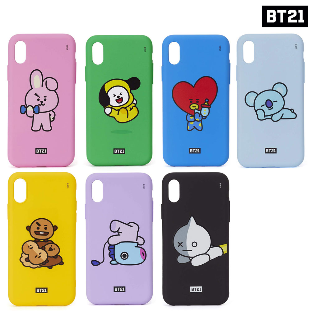 new products 8ad8b 61232 Details about BTS BT21 Official Authentic Goods Silicone Case for iPhone X  Active Ver KPOP