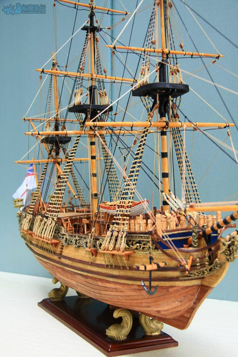 Details About Hmy Royal Caroline 1749 Scale 1 50 33 Wooden Ship Model Kits Sailing Boat Kit