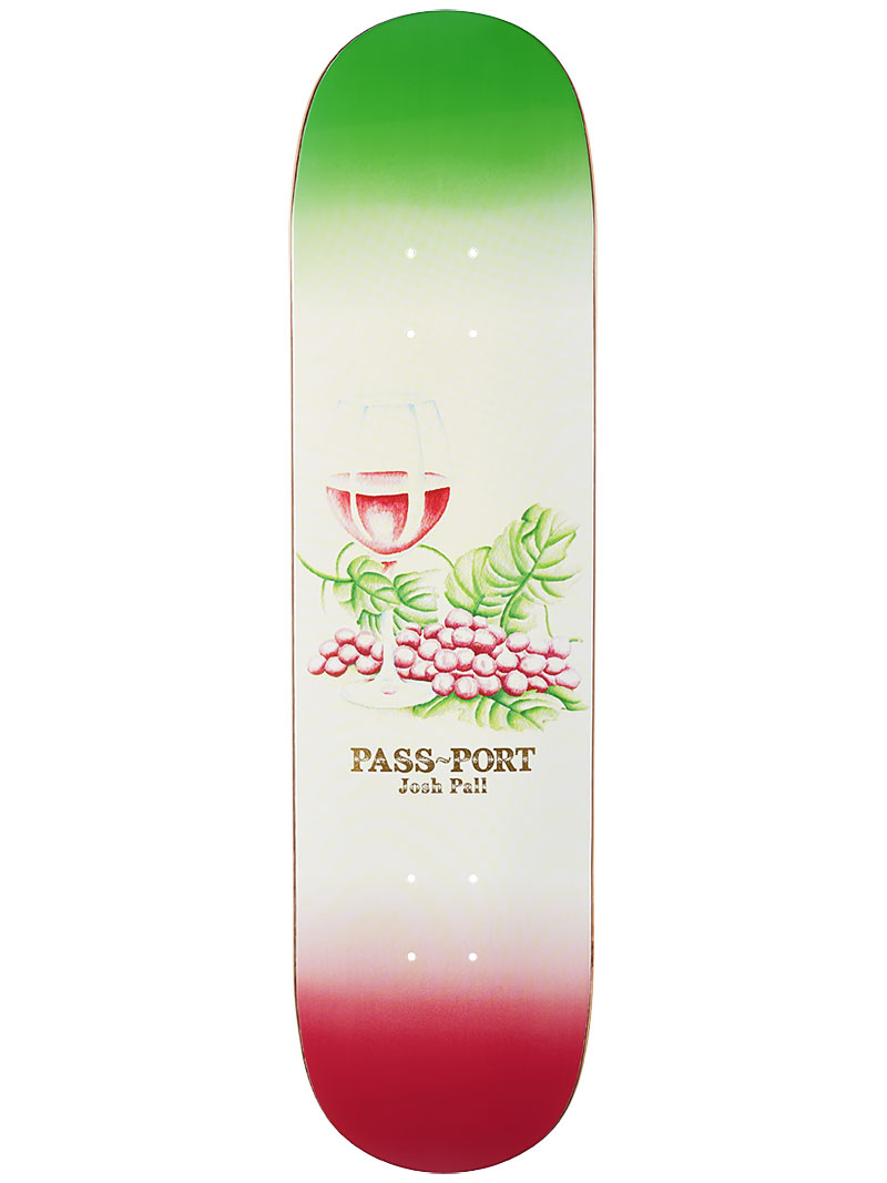 Pass Port Skateboard Deck Josh Pall 8.125 Drinks & Mixers FREE GRIP Passport
