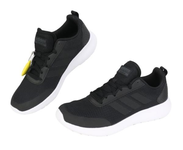 new concept 474b6 eb170 Adidas Men ELEMENT RACE Training Shoes Running Black White Sneakers ...