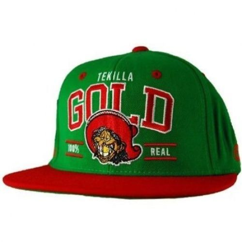 Gold Wheels Cap tekilla green Skateboard Snapback