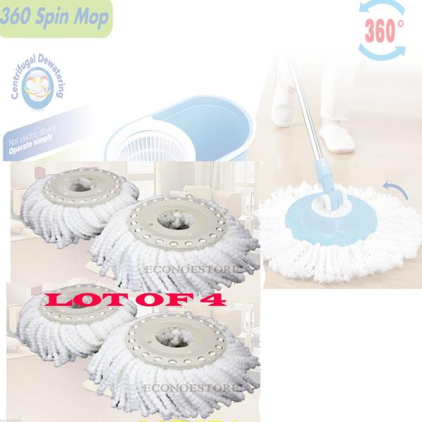 Lot Of 4 Replacement Microfibric Mop Head Refill 4
