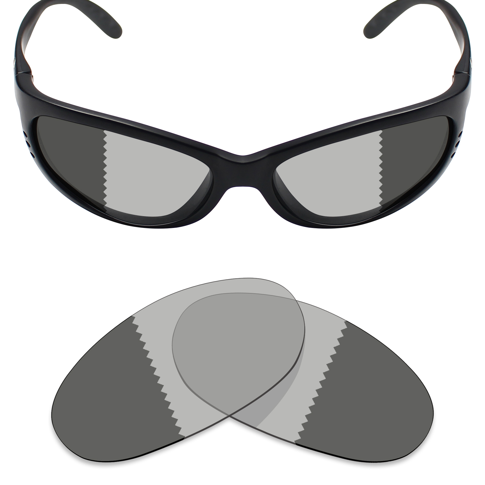 57affefe59a6 Mryok Anti-Scratch Polarized Replacement Lense for Costa Del Mar Fathom -  Opt.