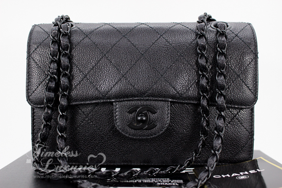 CHANEL Vintage So Black Single Flap in Black Caviar   Black Hardware. Do  not miss out on this rare gem! e4463f57cf98c