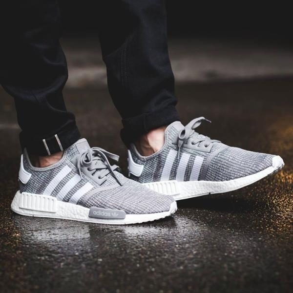 Cheap Adidas NMD R1 Runner Grey White Lush Red Black Primeknit