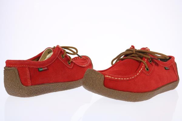 Sanearda Womens Red Suede Lace-Up