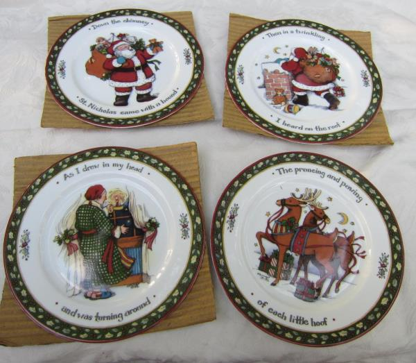 International China CHRISTMAS STORY Snack Plates Series 2 NIB Susan ...