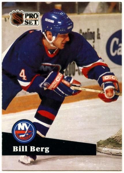 cheap for discount ff119 bdab8 Details about Bill Berg #145 New York Islanders Pro Set 1991-2 Ice Hockey  Card (C414B)