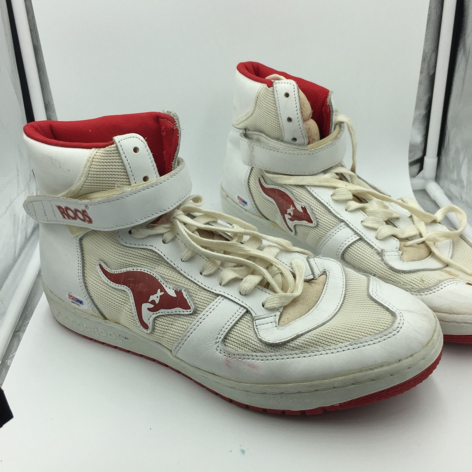 764d630bbc42 1980 s Clyde Drexler Signed Game Used Sneakers Shoes Pair With PSA DNA COA