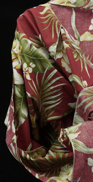 3d0a34f3 Royal Creations L Red White Yellow Hibiscus Reverse Print Aloha ...