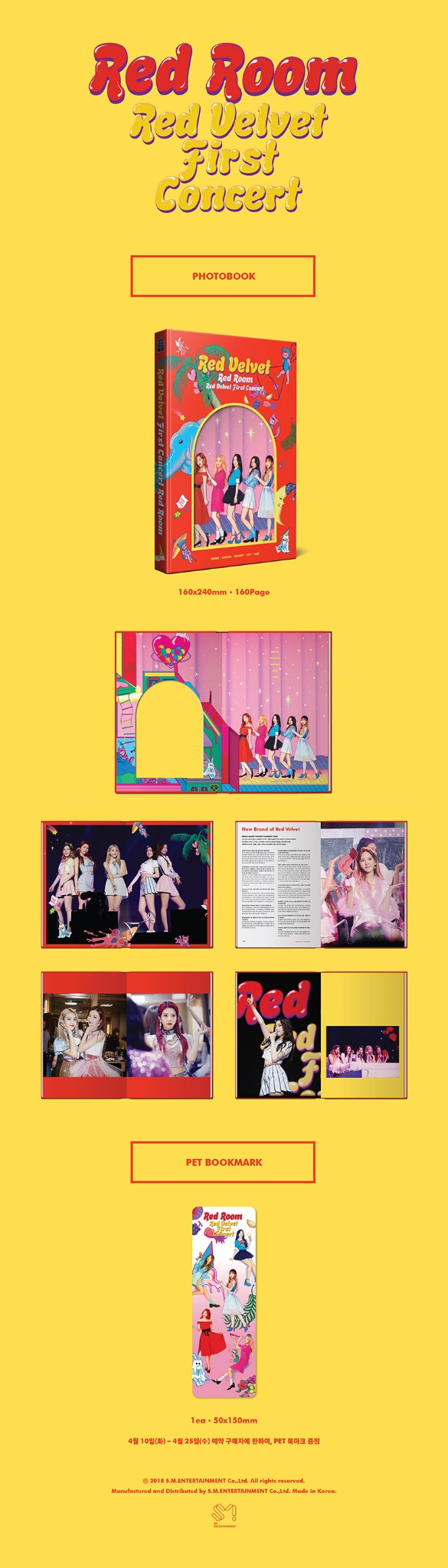 Details about RED VELVET First Concert Red Room Snap Photo book  Book+Bookmark KPOP