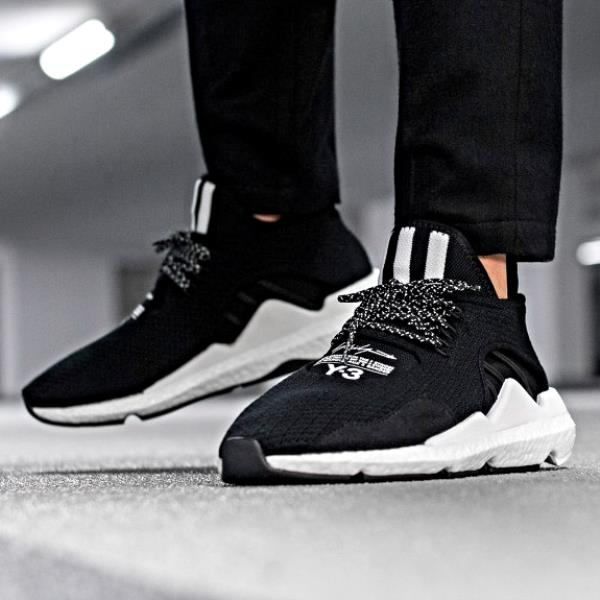 6981b9151 Adidas Y-3 Saikou Sneakers Black White Size 7-12 Mens NMD Boost Y-3 Ultra  New