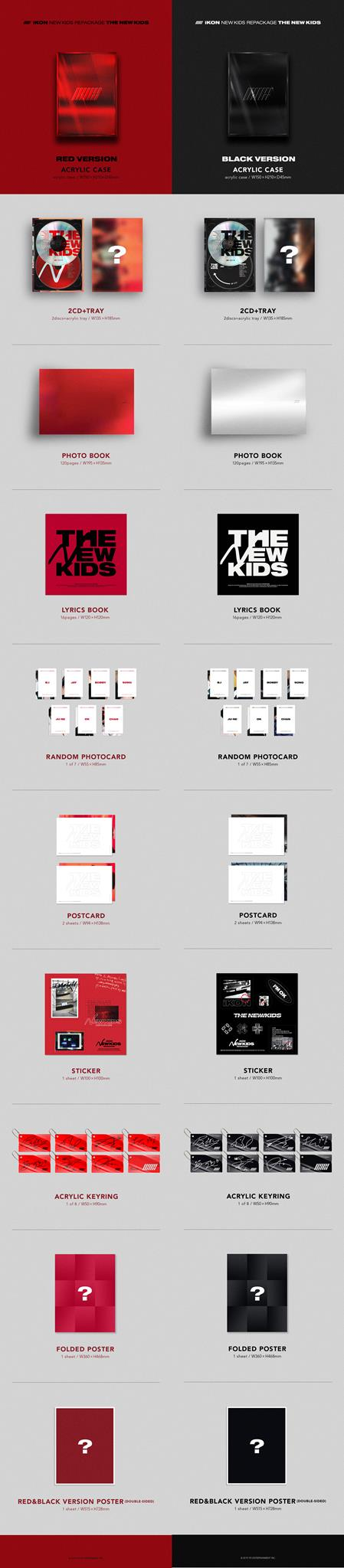 Details about iKON NEW KIDS REPACKAGE: [THE NEW KIDS]  CD+Photobook+Card+Etc+Tracking Code