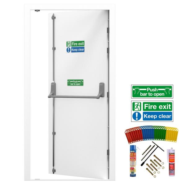 Superbe Fire Exit Doors / Steel Security Emergency / Fire Escape Door With Panic Bar