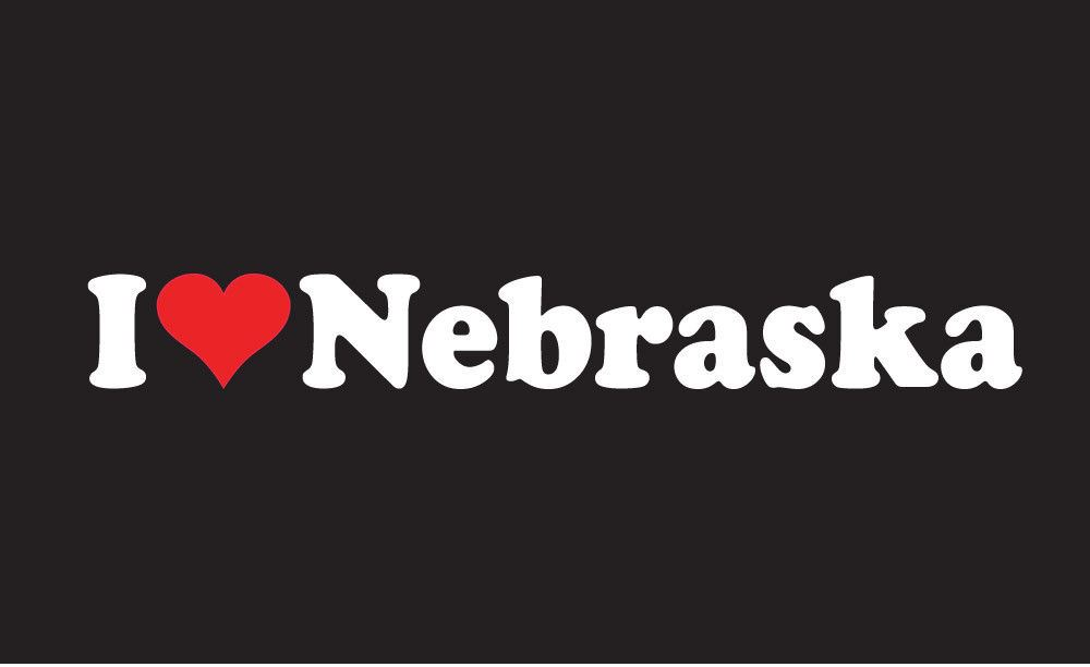 I Love Nebraska Sticker Vinyl Decal Car Tattoo Omaha Lincoln