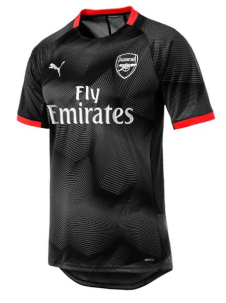 ffe5e45b773 Puma Men Arsenal FC Graphic S S T-Shirts Black Soccer Top Tee Jersey ...