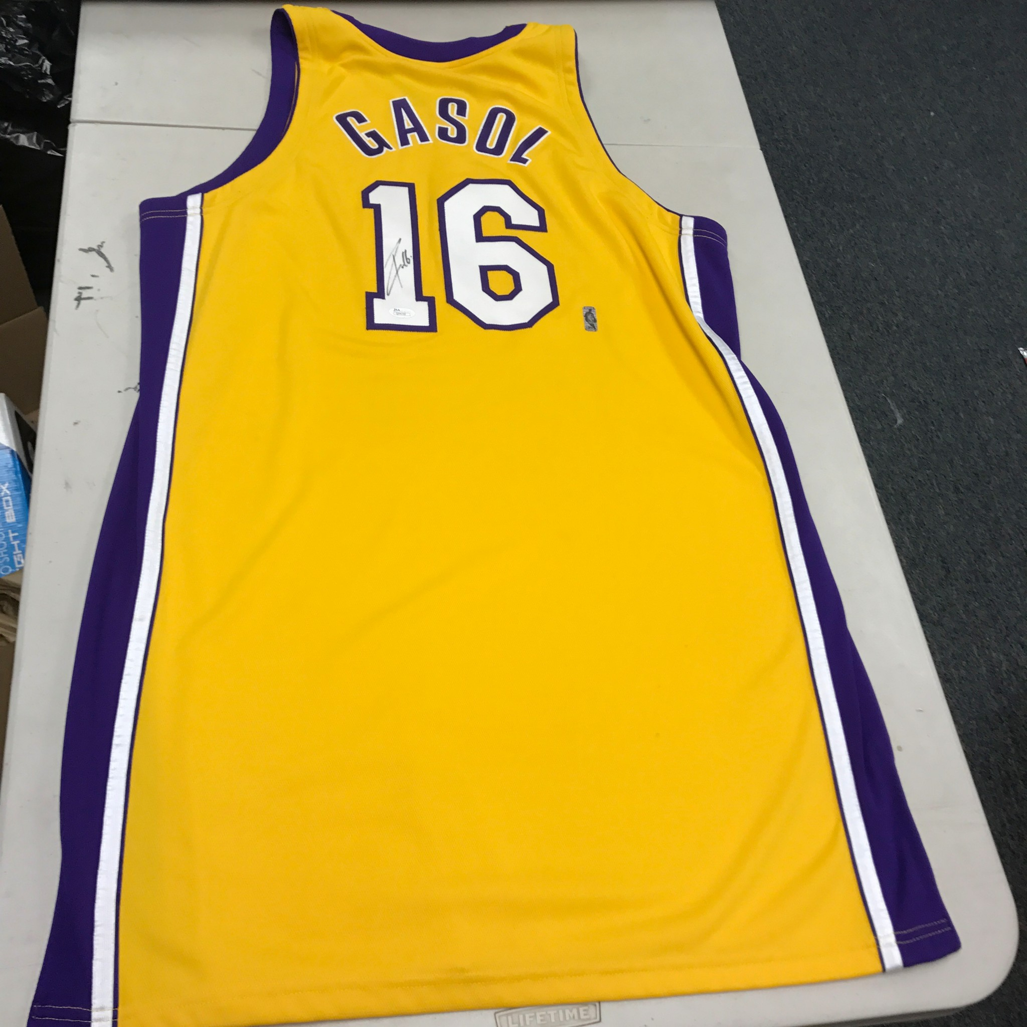 35a328cd6 2008-09 Pau Gasol Game Used Signed Los Angeles Lakers Jersey JSA COA ...