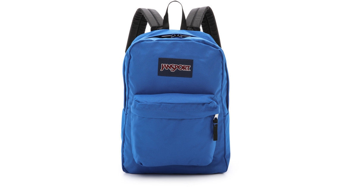 Jansport Backpack Superbreak Blue Streak Travel Skate Bag FREE POST