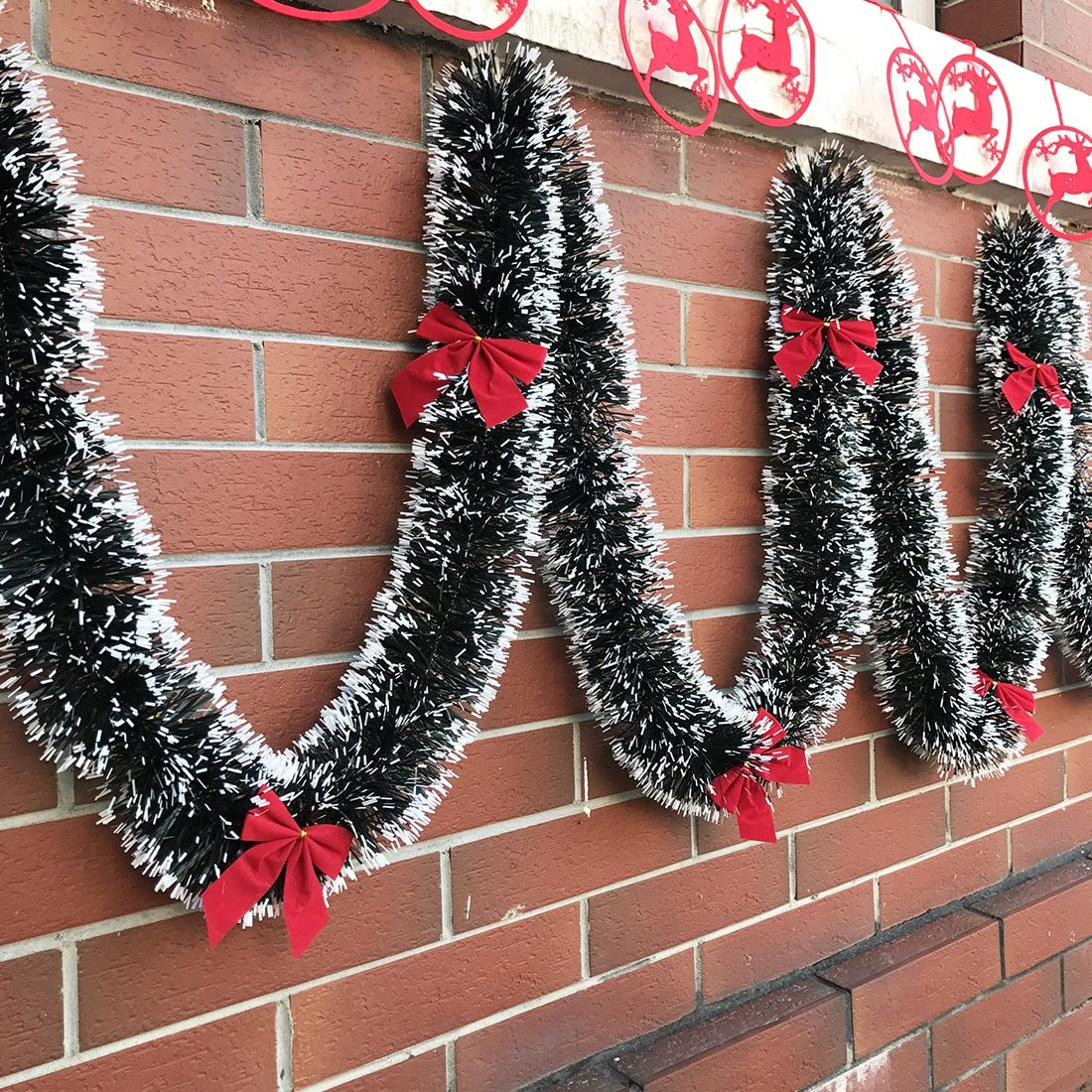 Details About Decorative 6 Foot Christmas Ribbon Garland