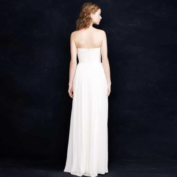 NEW J CREW 14P 14 PETITE IVORY SILK CHIFFON ARABELLE WEDDING BALL ...