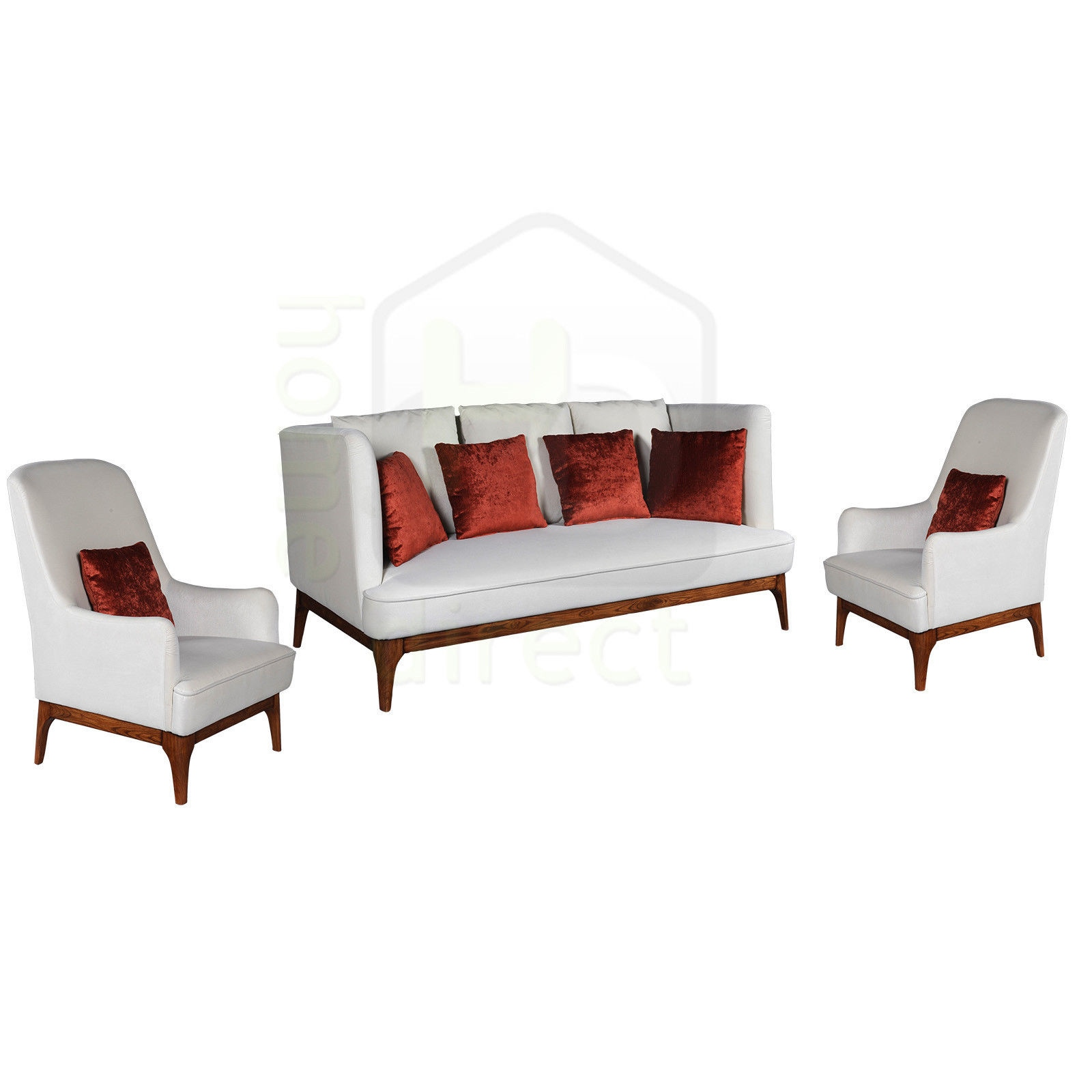 3 +1+ 1 Seater French Provincial Scandinavian Danish Retro Sofa Couch  Lounge Set