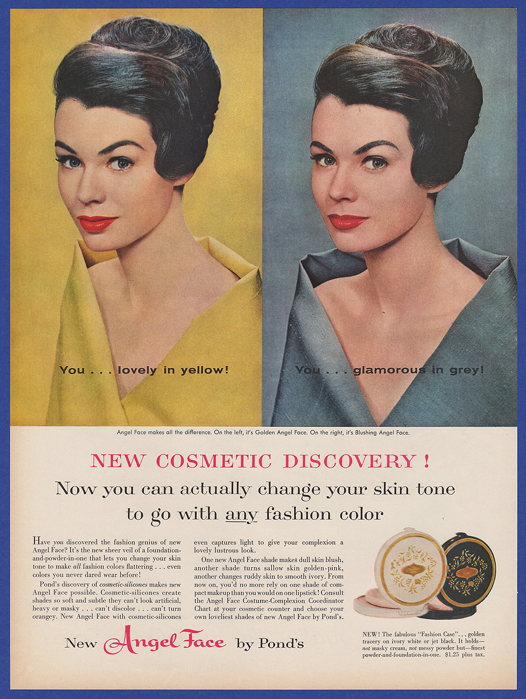 fdf18d2fa3314 Details about Vintage 1959 POND'S Angel Face Women's Fashion Make Up  Cosmetics Print Ad 50's