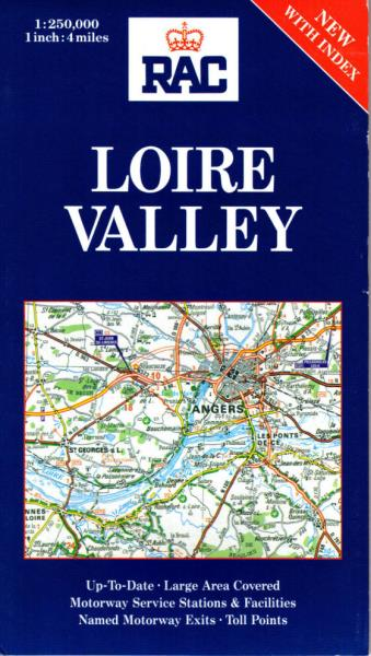 Regional Map Of France In English.Details About Loire Valley Rac Regional Maps Of France New Index Wine Castles Chateaux Val De