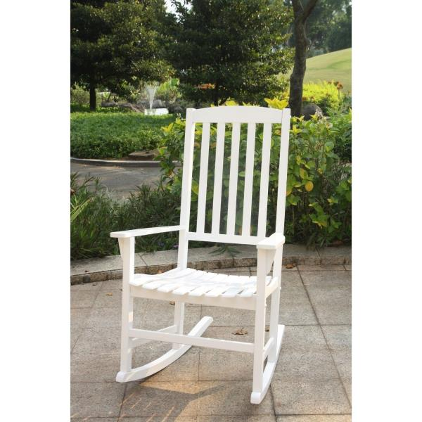 Cool Details About White Rocking Chair Rocker Mahogany Wood Modern Style Single Seat Porch Nursery Bralicious Painted Fabric Chair Ideas Braliciousco