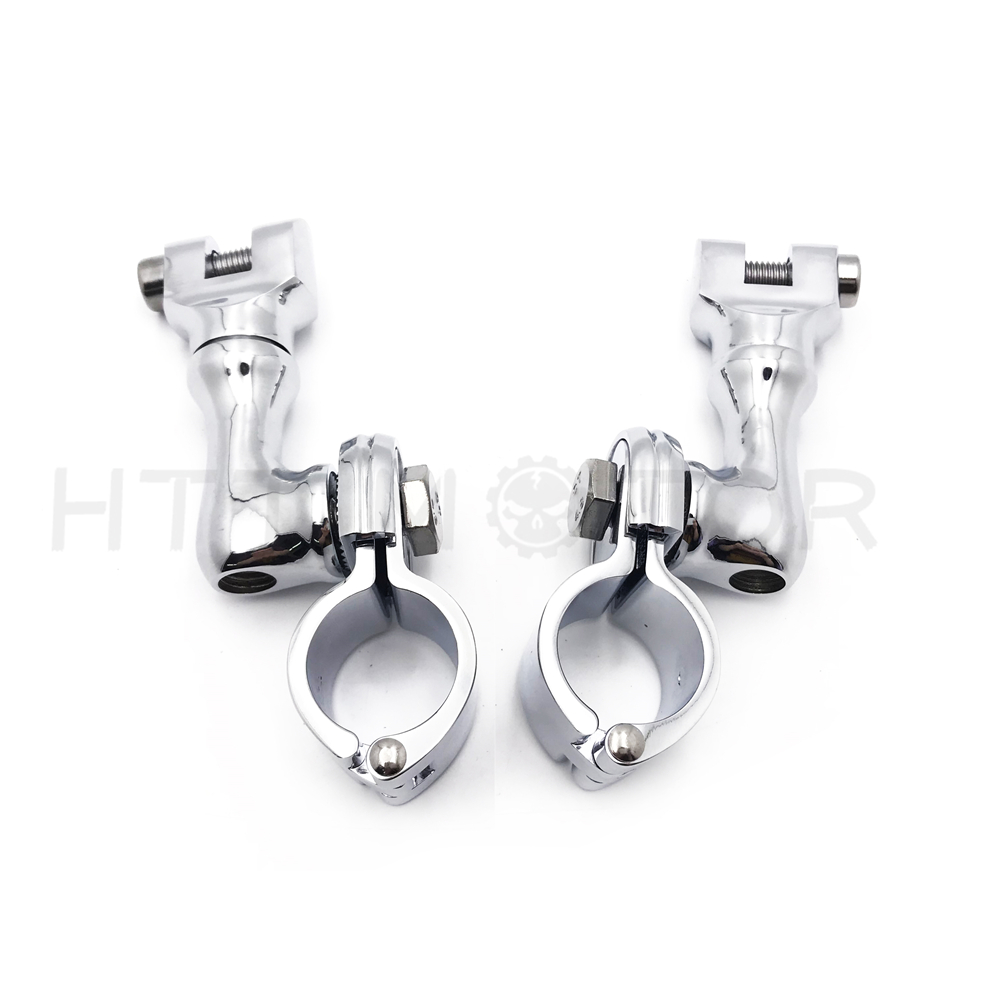 """1/"""" Motorcycle Highway Offset Foot Peg Mounts For Harley Sportster Dyna Softail"""