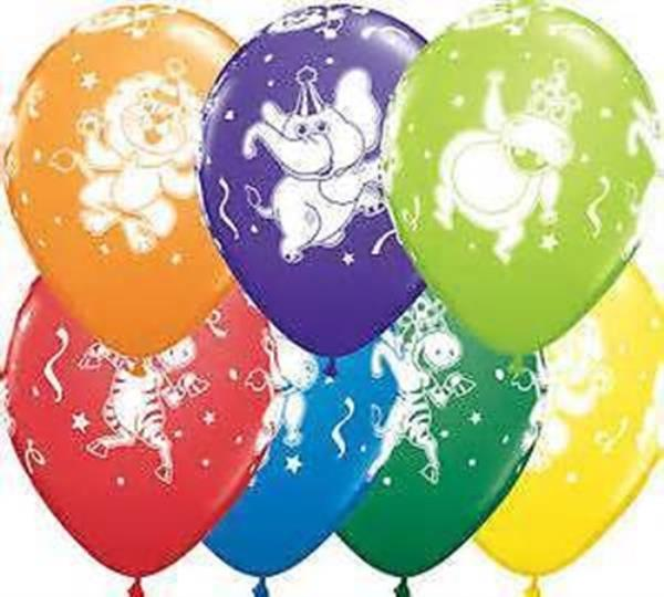 "Safari Animal Print Assorted 11/"" Qualatex Latex Balloons x 25"