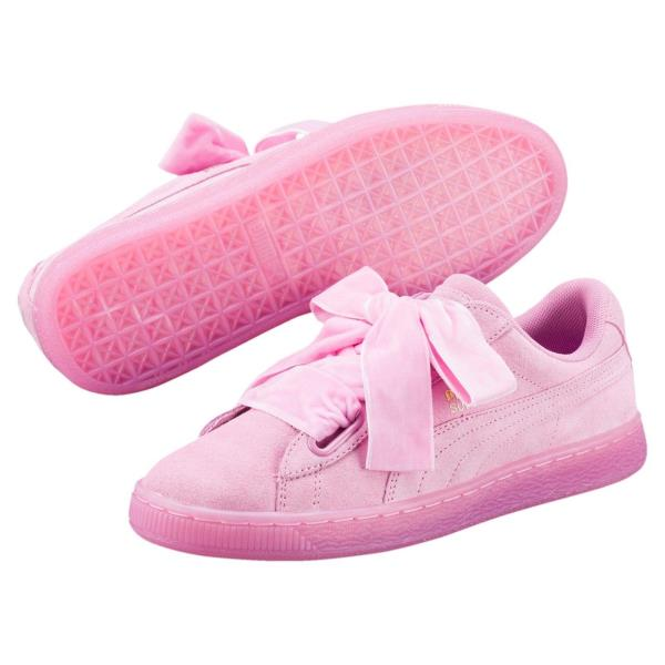 Details about [363229 02] Womens PUMA Suede Heart Reset Sneaker Pink