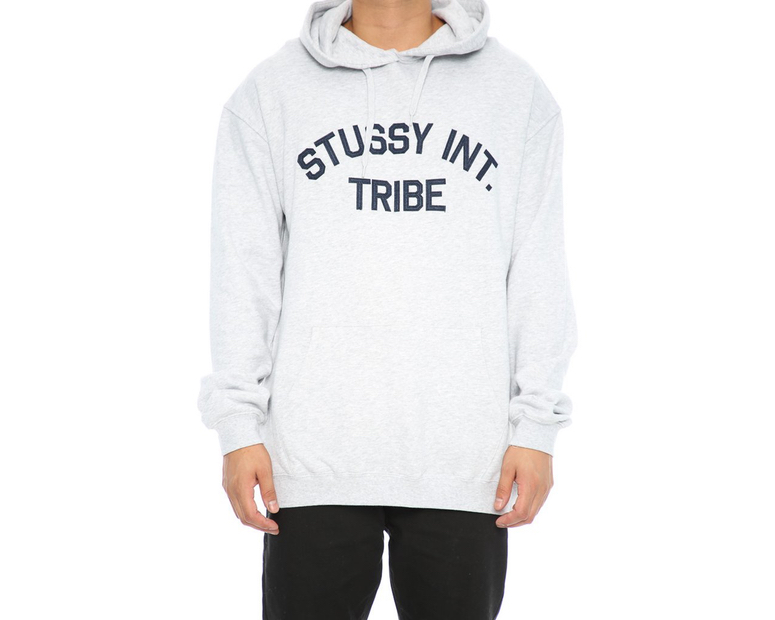 Stussy Hood Progress Applique Grey Marle Hoody Skateboard Hoodie FREE POST