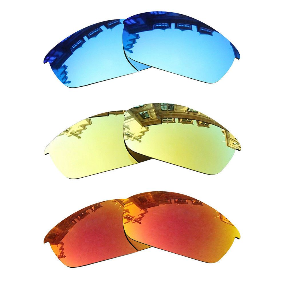 Polarized Lenses Sunglasses Replacement Flak Oakley Jacket Mirrored tFUw1aq