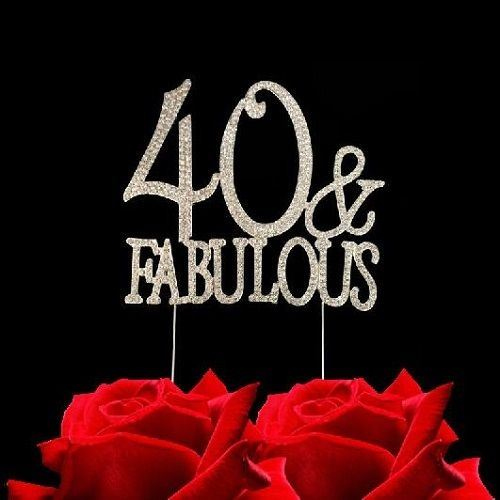 Prime 40Th Birthday Cake Topper 40 Fabulous Rhinestone 643307525342 Ebay Personalised Birthday Cards Cominlily Jamesorg