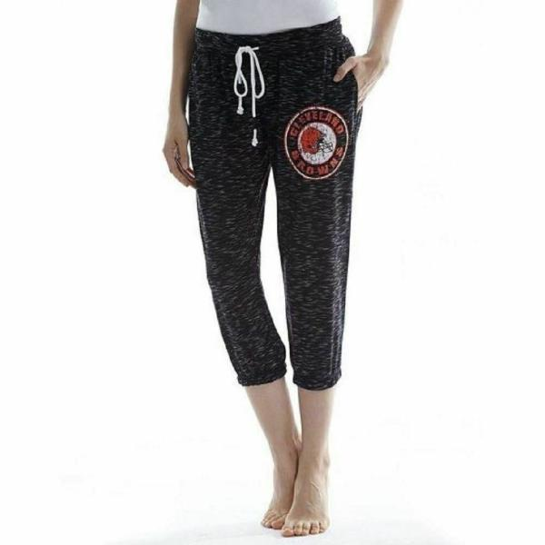 069388c1 Details about Small Women's Cleveland Browns NFL Backboard Capri Pants NEW