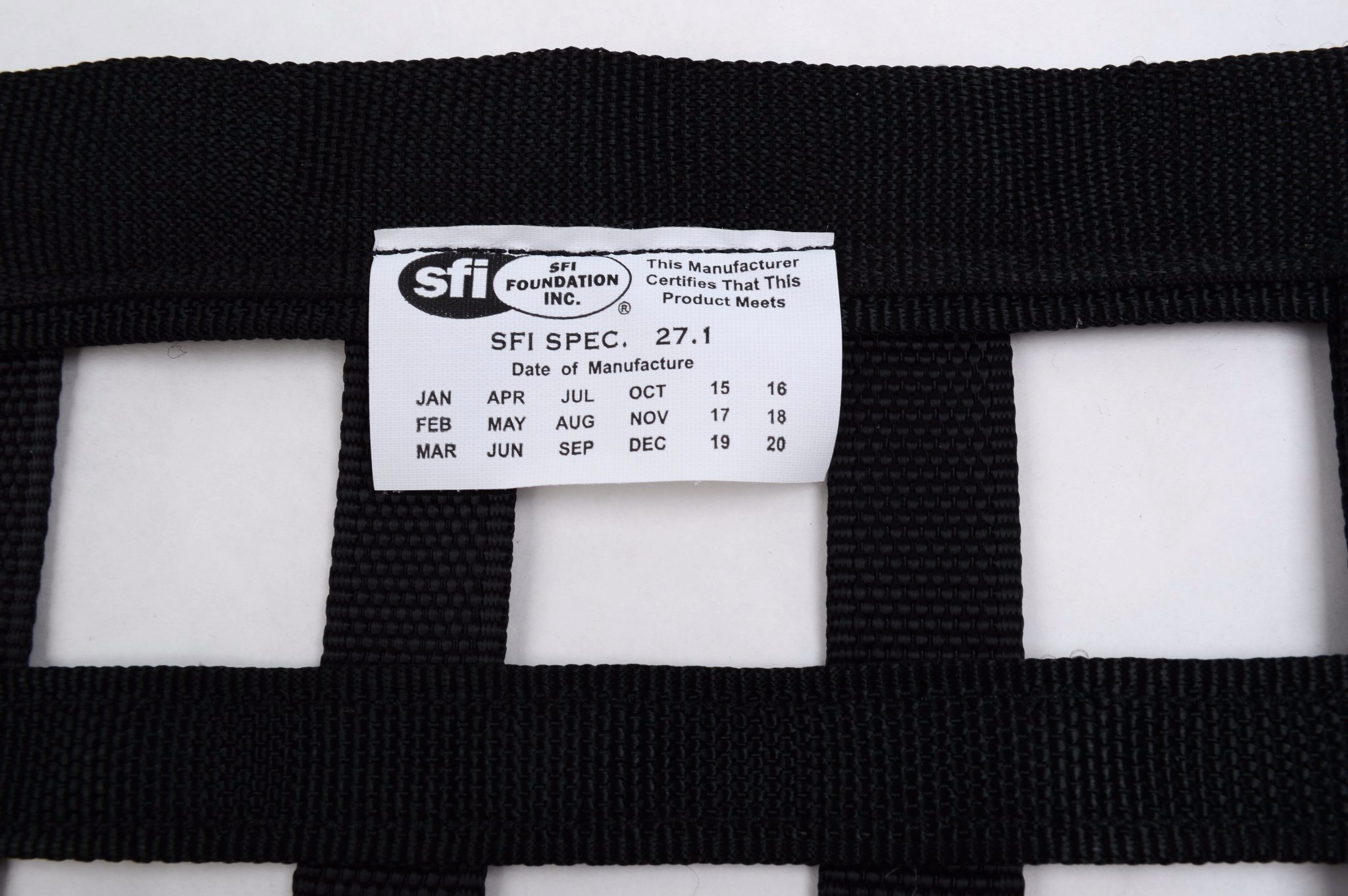 Racerdirect.net SFI 27.1 Approved Oblong Ribbon Window Net Safety Net