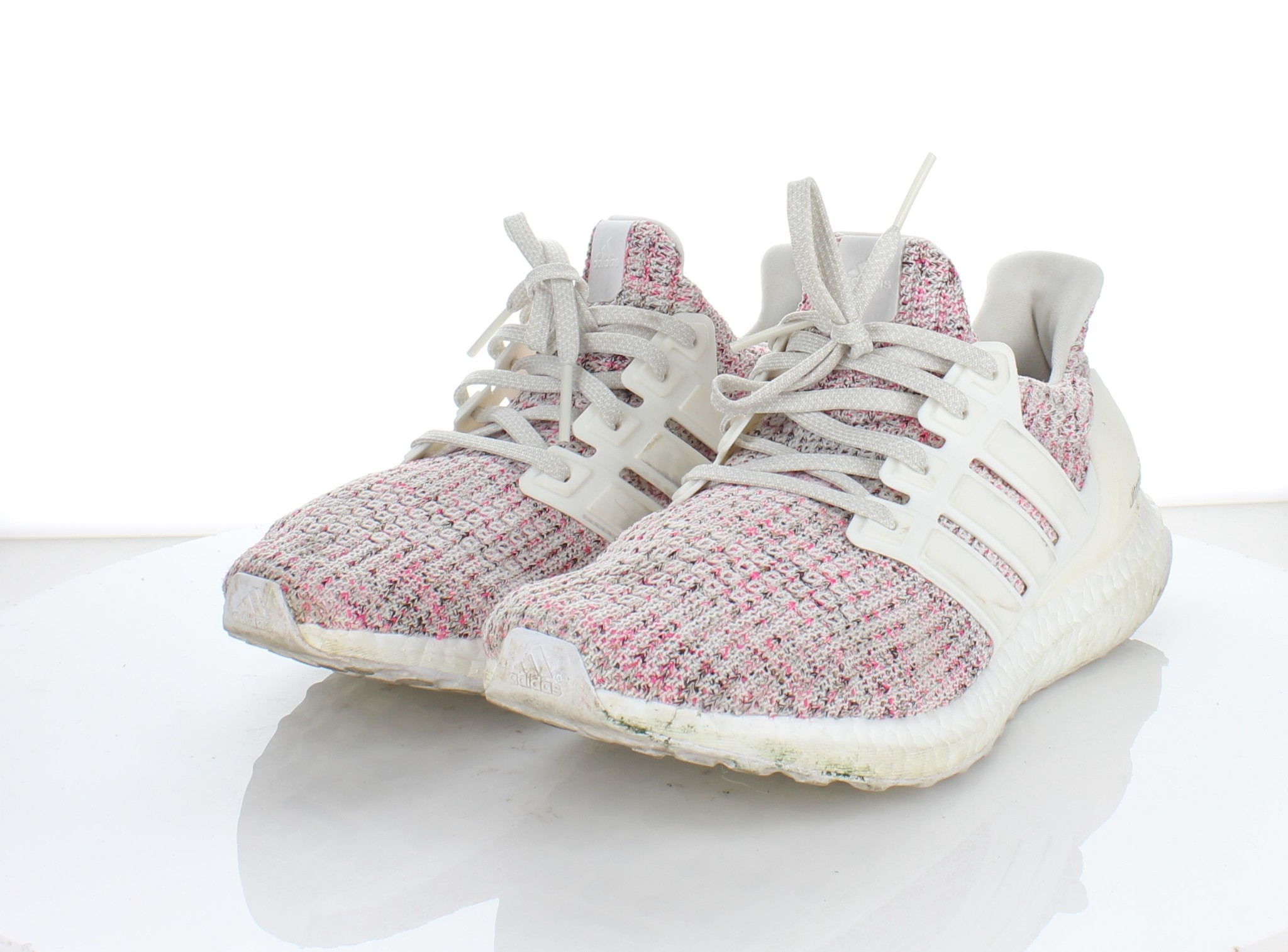 finest selection 9532c bb486 1833 Adidas Ultraboost Chalk Pearl Cloud White Mesh Running Shoe ...